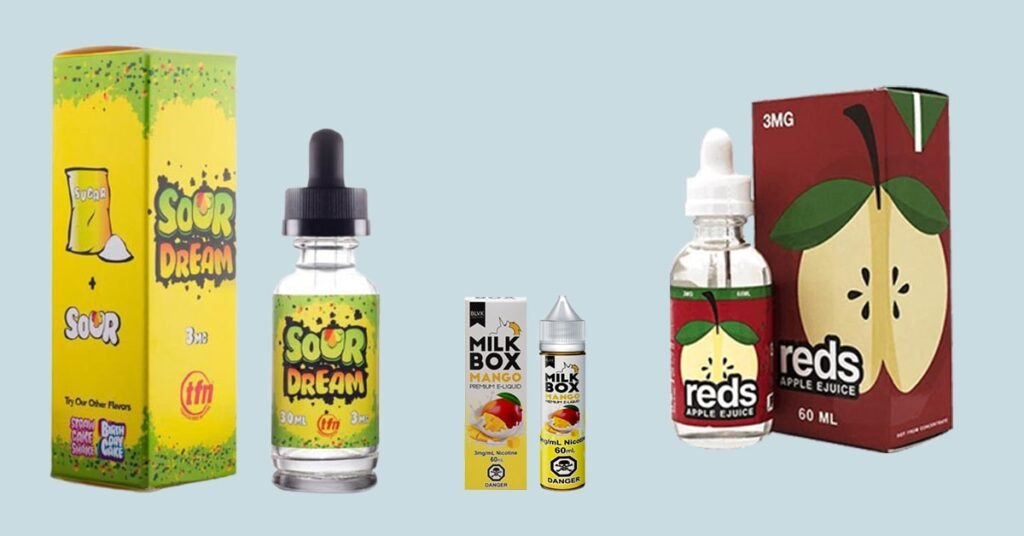 E Juice packaging boxes