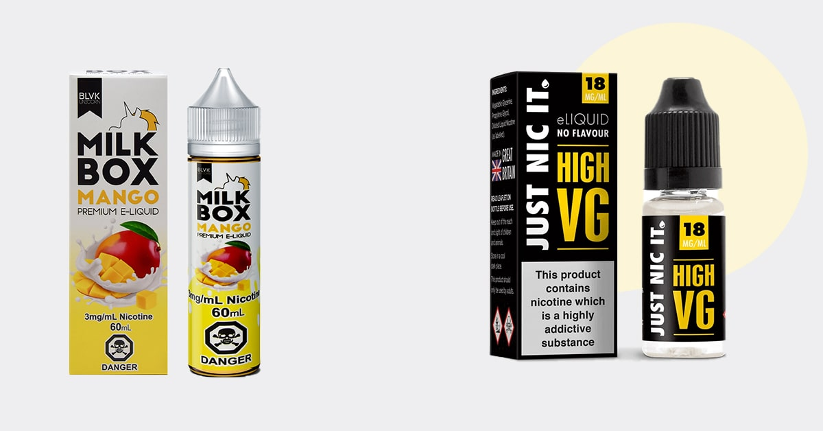 E-juice boxes packaging